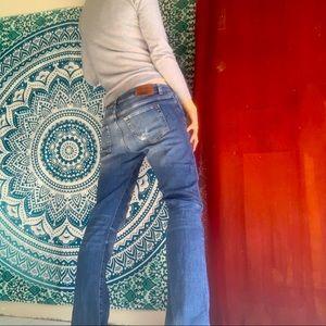 ZARA1975 distressed bootcut jeans size 42